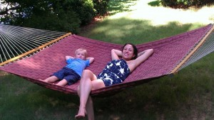 Hammock-asana with my homie, Ethan